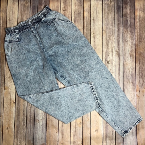 Vintage Denim - Vintage Acid Wash Stretch Jeans Carriage Court 14